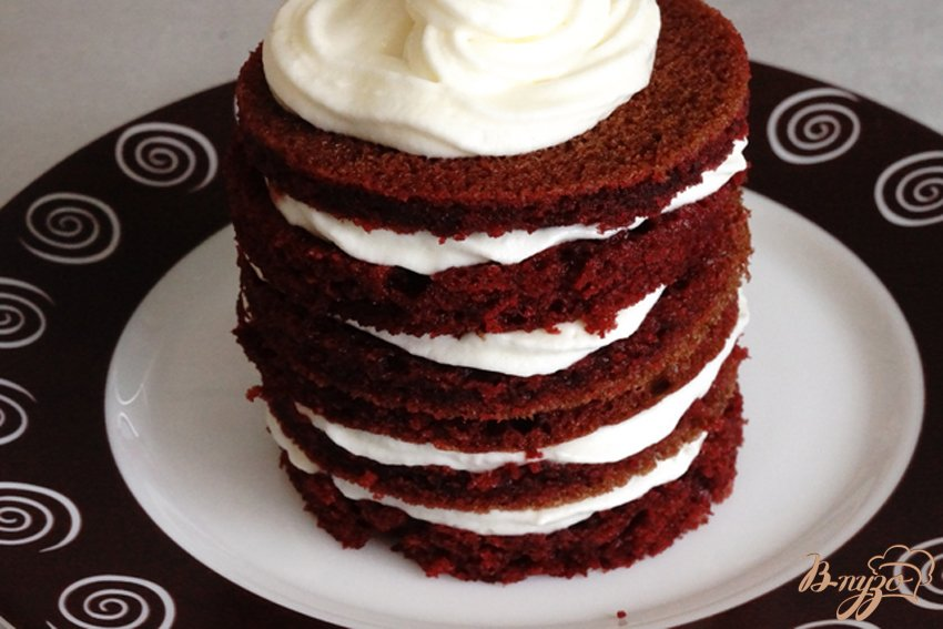 Фото приготовление рецепта: Десерт по мотивам торта