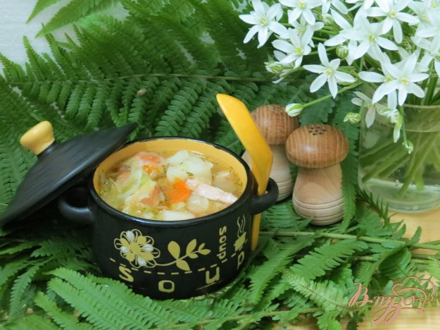 фото рецепта: Суп с колбасками и с капустой