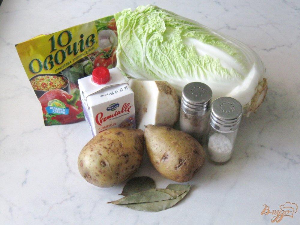 Фото приготовление рецепта: Суп-пюре из пекинской капусты с сельдереем шаг №1