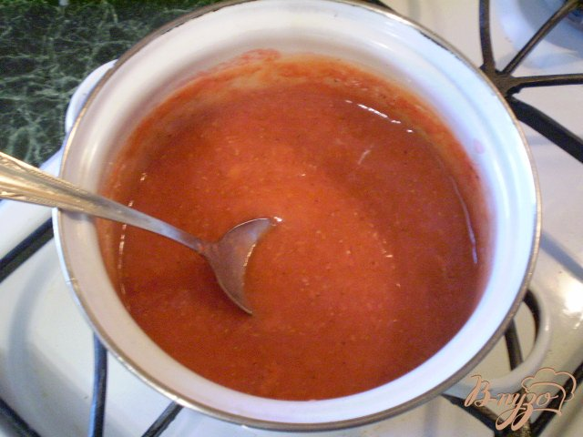 Фото приготовление рецепта: Соус из ягод клубники шаг №7