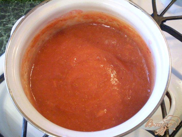 Фото приготовление рецепта: Соус из ягод клубники шаг №8