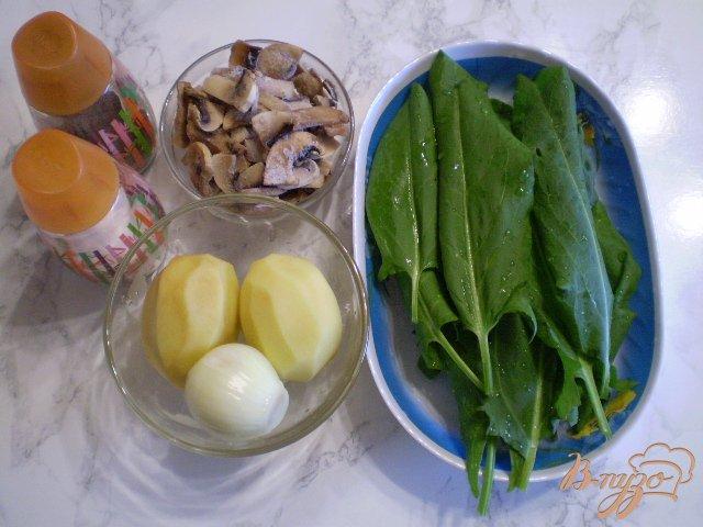 Фото приготовление рецепта: Грибной суп со щавелем шаг №1