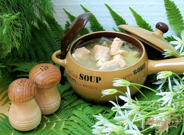 фото рецепта: Суп из сёмги, капусты и белого вина