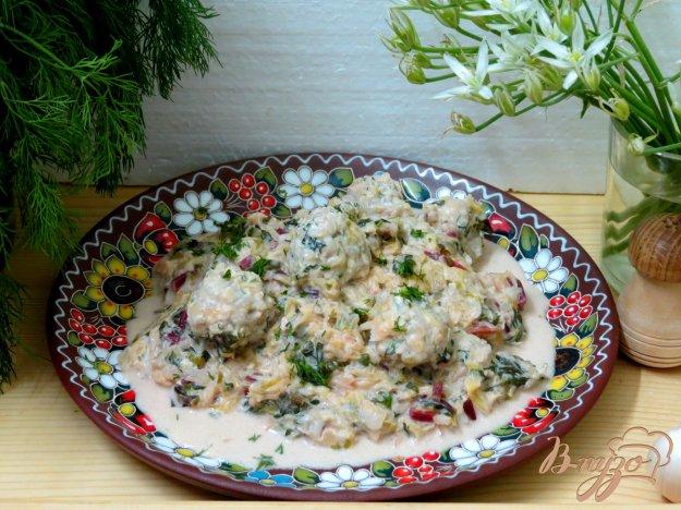 фото рецепта: Ботвинья с капустой и тефтельками