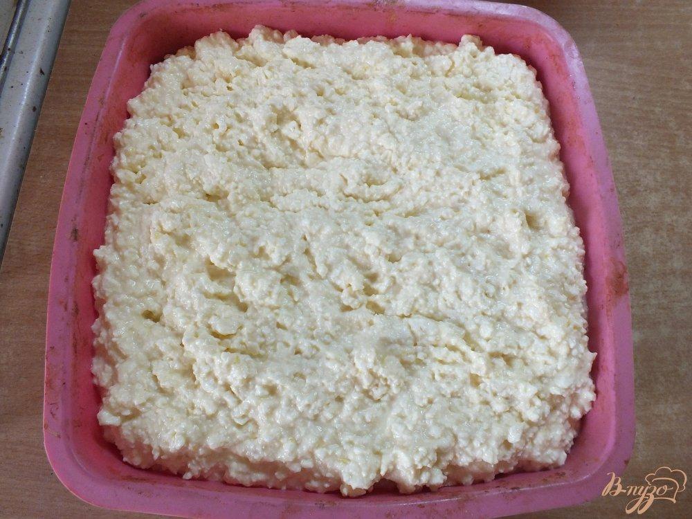 Фото приготовление рецепта: Лимонная творожная запеканка шаг №7