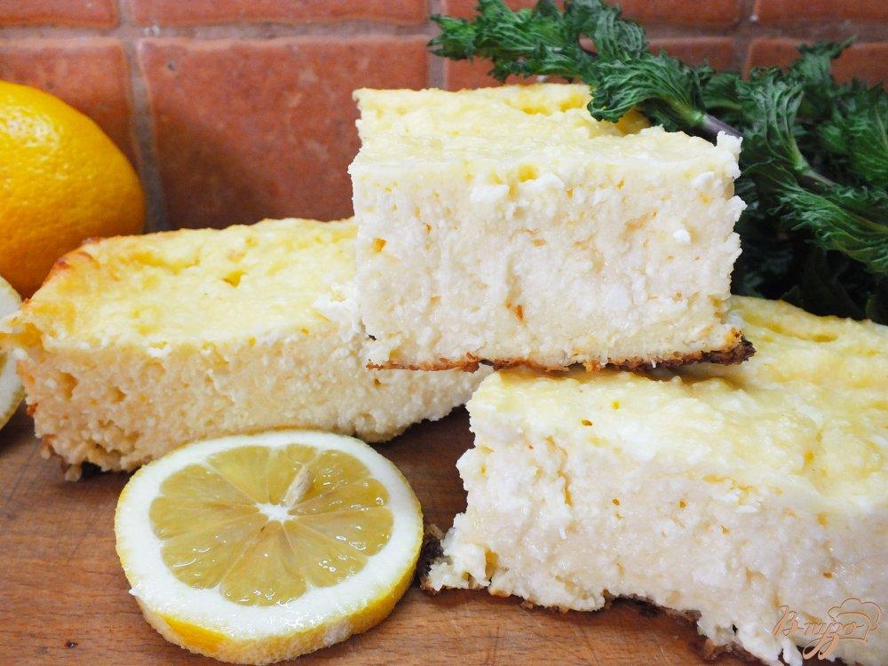 Фото приготовление рецепта: Лимонная творожная запеканка шаг №9