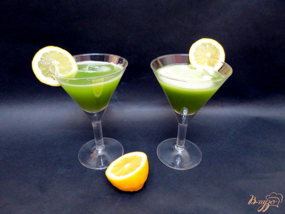 Фото приготовление рецепта: Огуречный напиток освежающий шаг №7