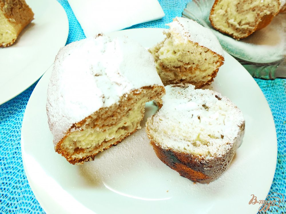 Фото приготовление рецепта: Пирог полосатый с какао шаг №10
