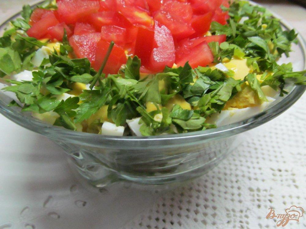 Фото приготовление рецепта: Салат из сердца помидора с французским соусом шаг №9