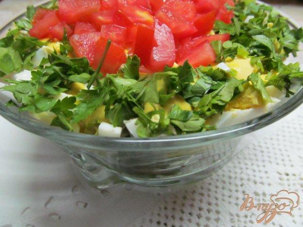 фото рецепта: Салат из сердца помидора с французским соусом