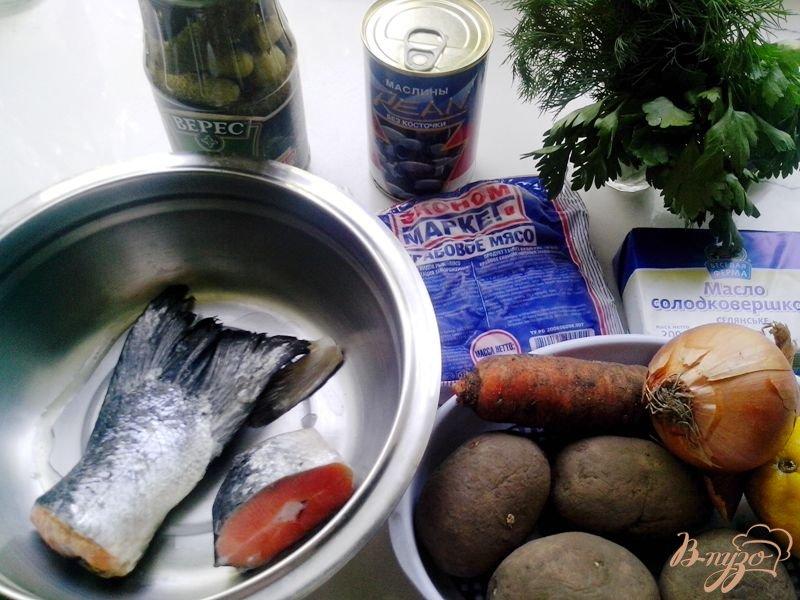 Фото приготовление рецепта: Солянка рыбная шаг №1
