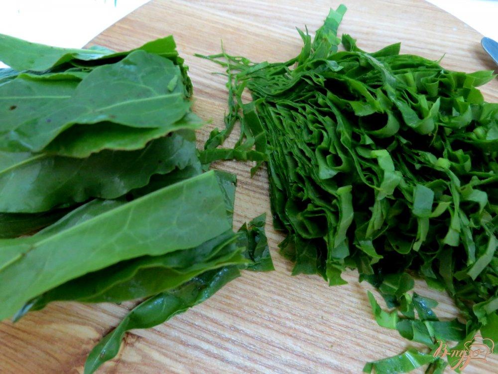 Фото приготовление рецепта: Салат из огурца, щавеля и кукурузы шаг №4