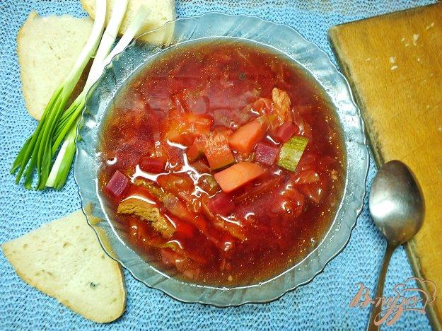фото рецепта: Борщ с кабачком без моркови