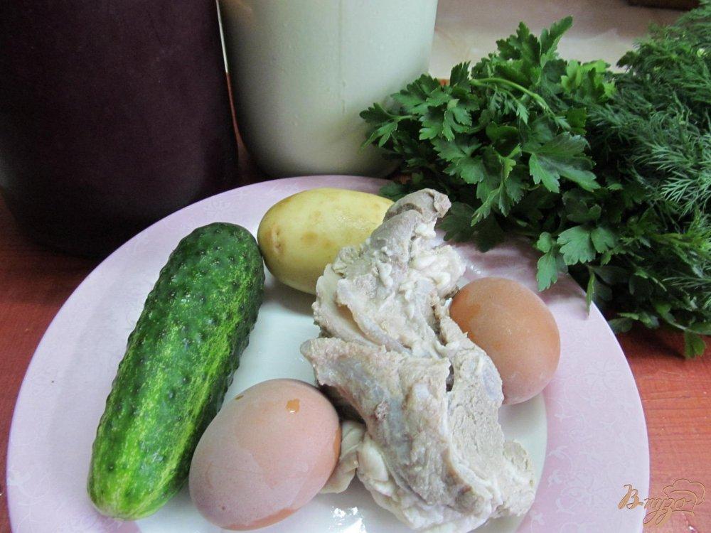 Фото приготовление рецепта: Окрошка на свекольном квасе шаг №1