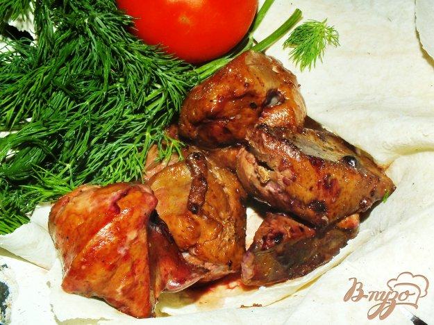 фото рецепта: Шашлык из говяжьей печенки