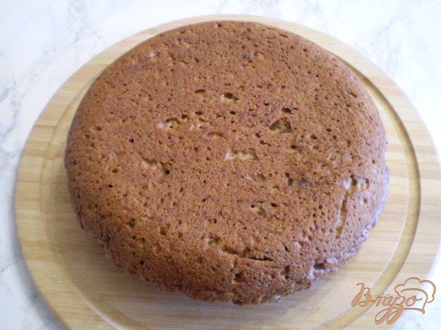 Фото приготовление рецепта: Пирог на клубничном пюре шаг №9