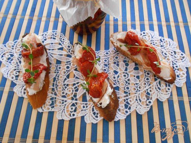 Кростіні з прошутто і в'яленими помідорами. Як приготувати з фото