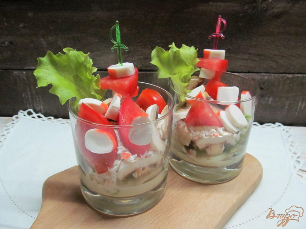 Фото приготовление рецепта: Веррины с крабовыми палочками шаг №12