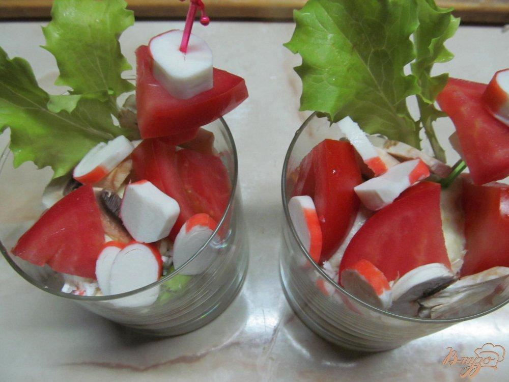 Фото приготовление рецепта: Веррины с крабовыми палочками шаг №11