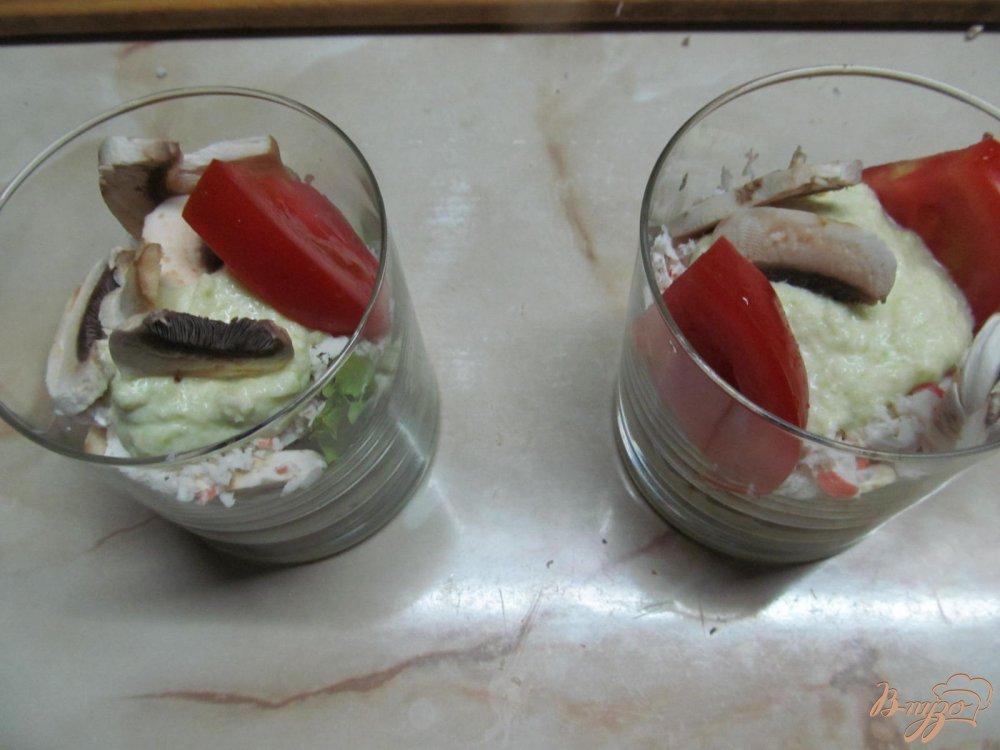 Фото приготовление рецепта: Веррины с крабовыми палочками шаг №10