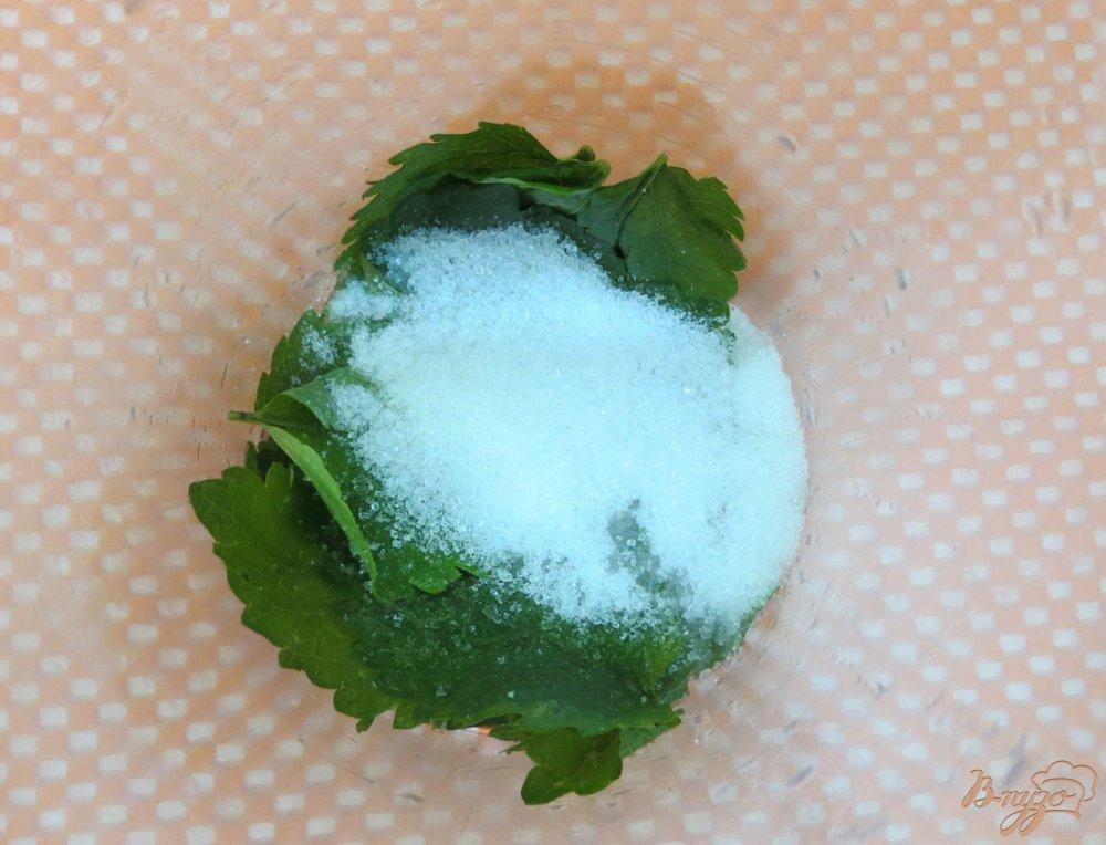 Фото приготовление рецепта: Морженое мохито шаг №5
