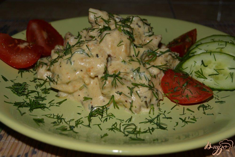 Фото приготовление рецепта: Куриное филе в арахисовом соусе шаг №11