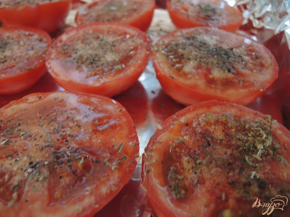 Фото приготовление рецепта: Вяленые помидоры шаг №4