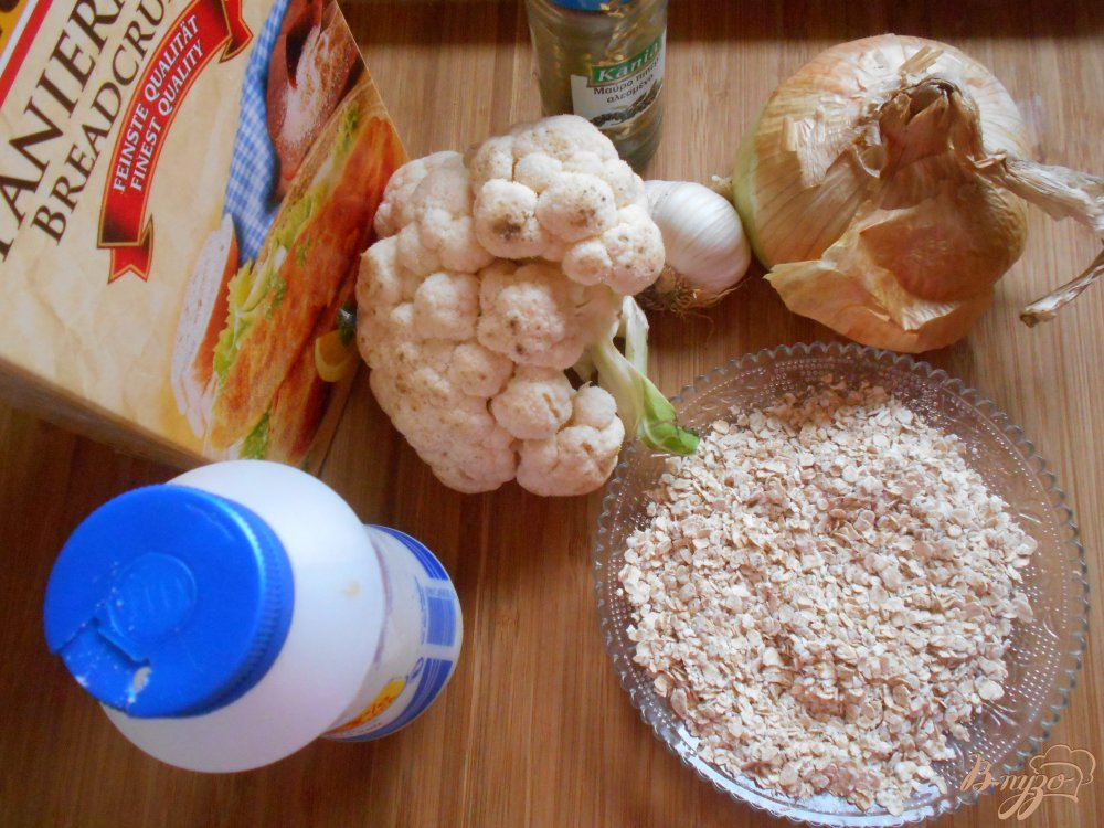 Фото приготовление рецепта: Макароны с котлетками из цветной капусты шаг №1