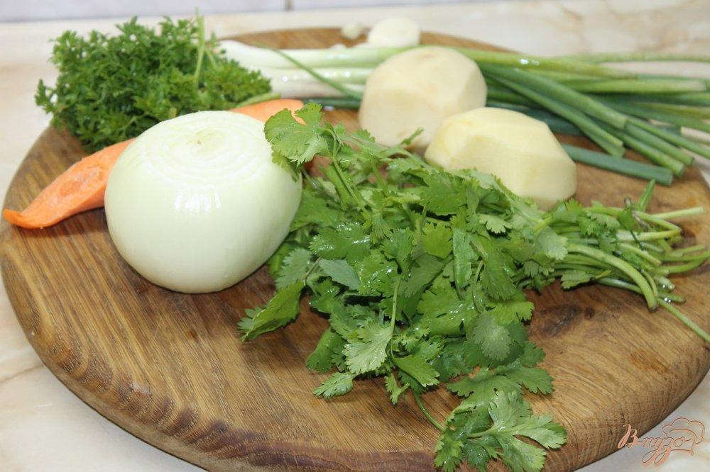 Фото приготовление рецепта: Шурпа по - домашнему со свининой и аджикой шаг №1
