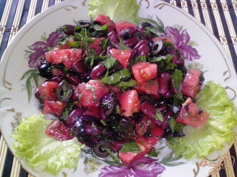 Фото приготовление рецепта: Салат с красной фасолью по-итальянски шаг №3