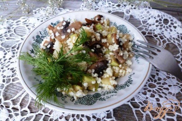 Пшоняна каша з грибами і кабачками. Як приготувати з фото