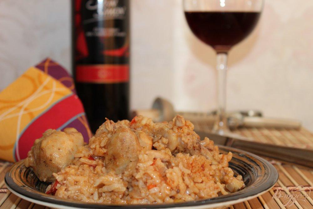 Фото приготовление рецепта: Паэлья с куриными голенями шаг №9