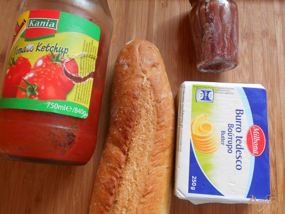 Рецепт Брускетта с анчоусами и томатным маслом