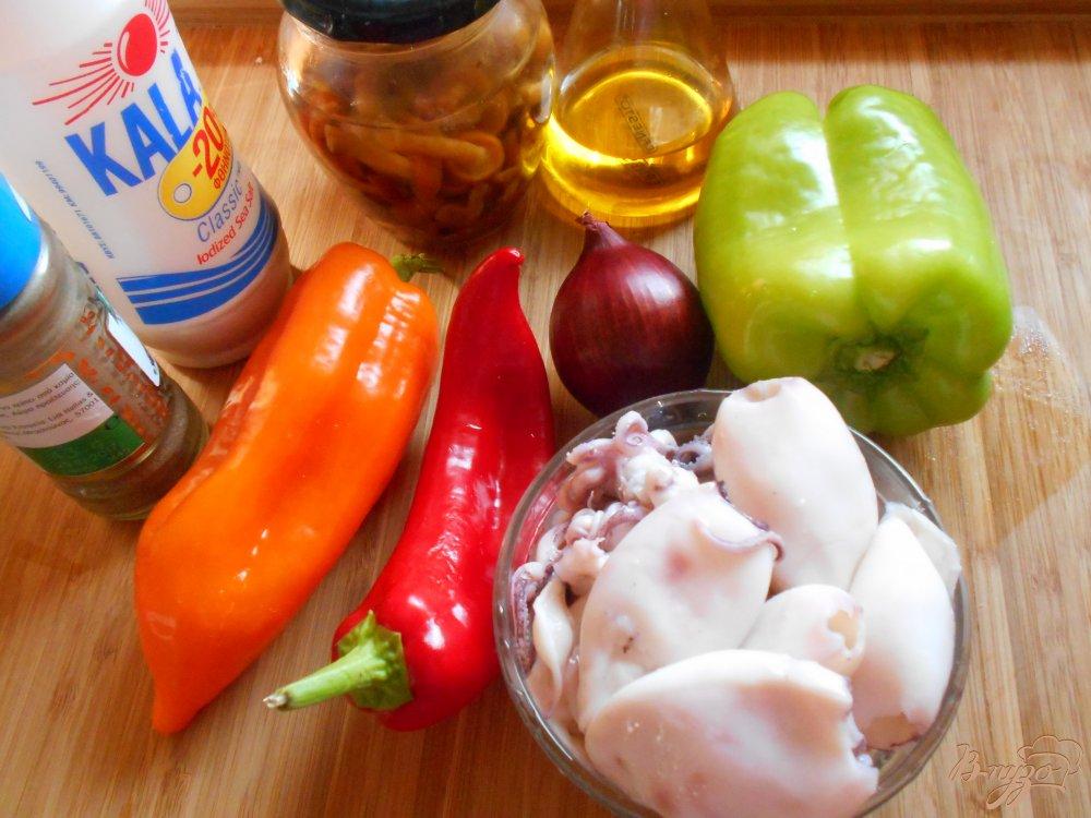 Рецепт Постный салат с кальмарами