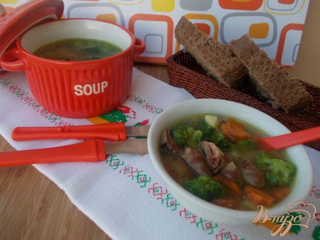 фото рецепта: Суп с куриными сердечками и брокколи