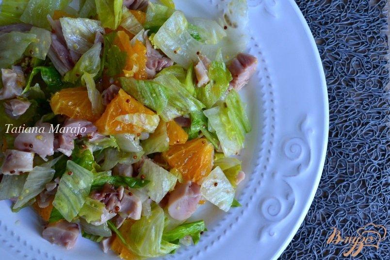 Салаты с копченой курицей и апельсином рецепты