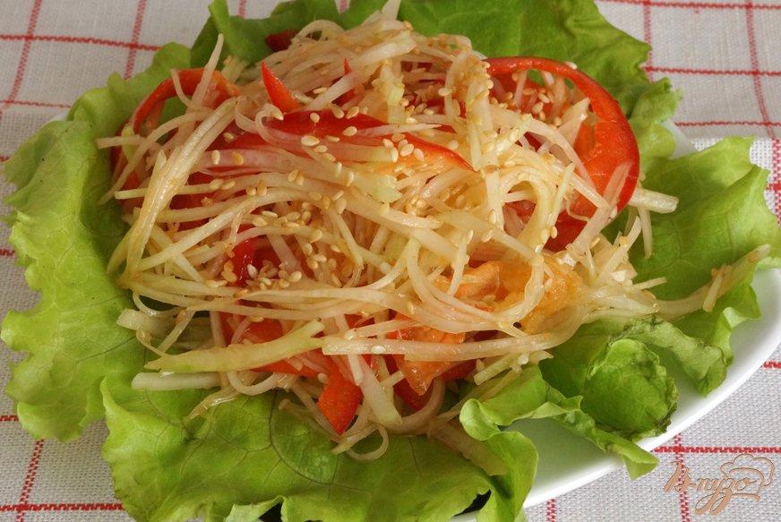 Салат с кольраби рецепт