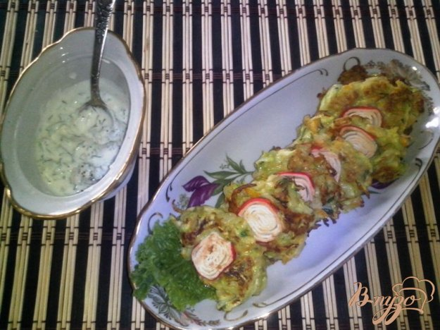 фото рецепта: Овощные оладьи с кабачком