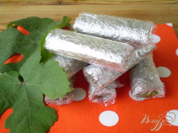 фото рецепта: Замороженные виноградные листья