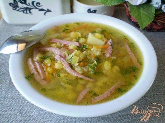 фото рецепта: Гороховый суп с колбасой