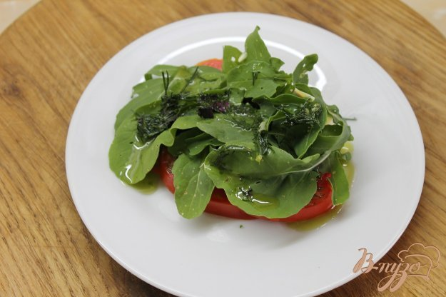 фото рецепта: Закуска с рукколой и помидорами