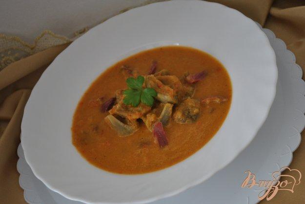 фото рецепта: Суп-крем с артишоками и хамоном