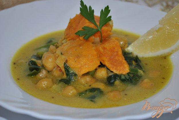 фото рецепта: Суп с нутом и шпинатом