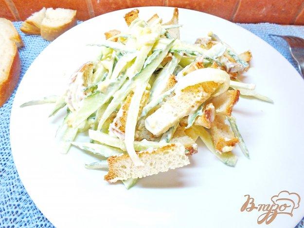 яичный салат рецепт с огурцом и