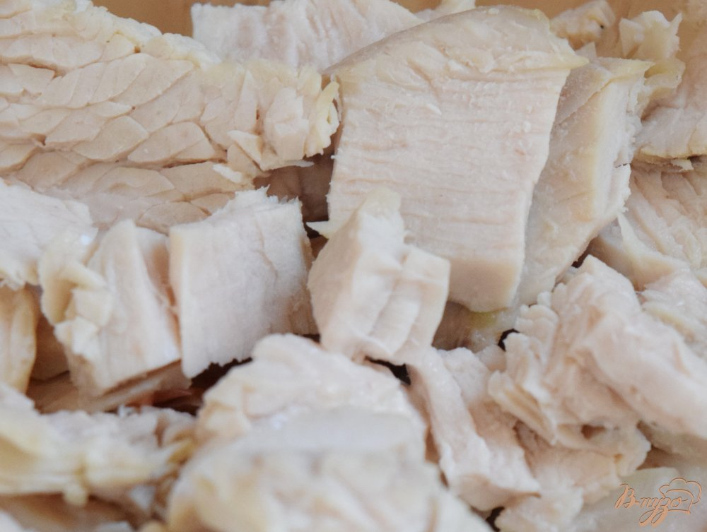 Рецепт Салат с куриным филе и кукурузой