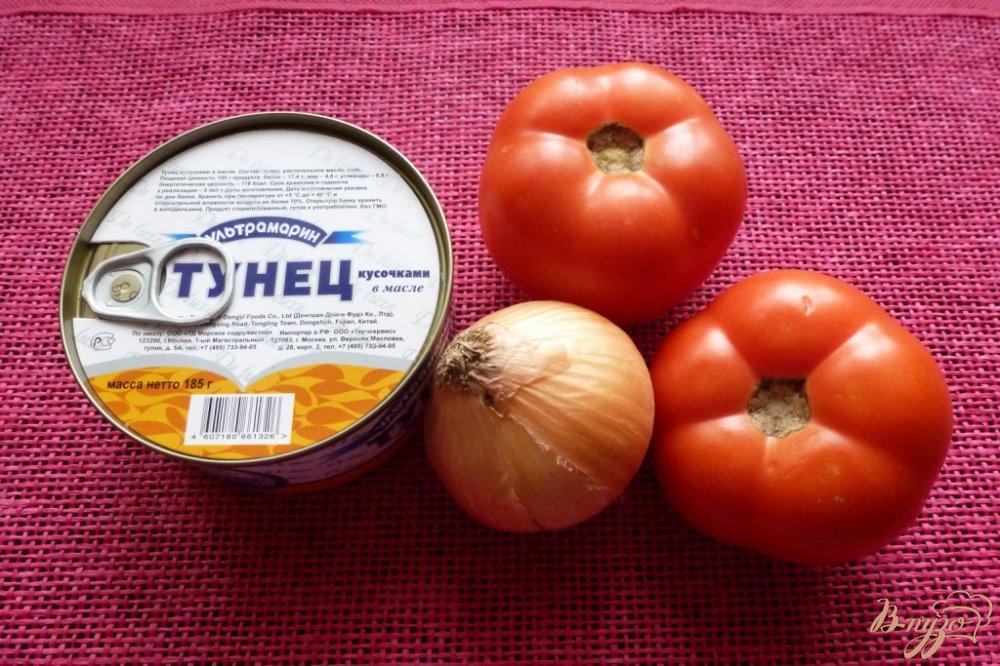 Рецепт Салат из тунца и помидоров