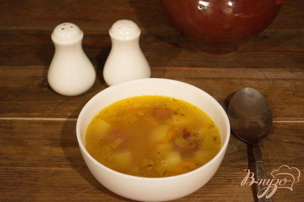 фото рецепта: Гороховый суп с колбасками