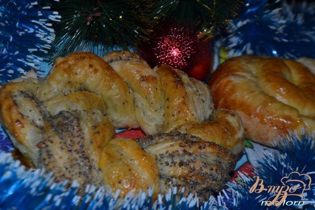 фото рецепта: Слойки карамельные с сахаром и абрикосовым джемом