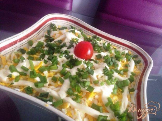 фото рецепта: Слоеный салат с помидорами