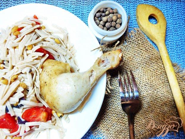 фото рецепта: Цыпленок запеченный в рукаве в соевом маринаде